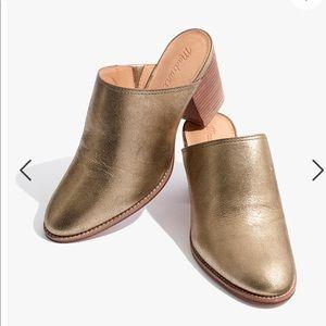 Cutest Madewell metallic mules! Never been worn!
